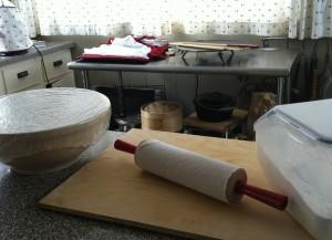 Set-up for lefse making